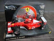 HOTWHEELS 1/24 FERRARI F1 CAR MICHAEL SCHUMACHER WITH VELOCITY CD ROM DISC
