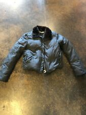 Jil Sander black down coat mink collar 36 4