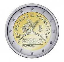 2 EURO COMMEMORATIVA ITALIA EXPO MILANO NUTRIRE IL PIANETA 2015 RARA FDC UNC