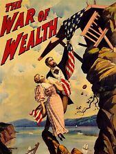 Publicité scène d'un théâtre jouer richesse guerre Dazey drapeau Art Poster Print lv1223