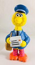 vtg Sesame Street Big Bird Mailman  PVC Figure by Applause 4 inch rare cake top