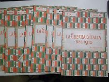 LA GUERRA D'ITALIA NEL 1915 WWI 1924, Fratelli Treves Editori NUMERI 1-2-3-4-5-8