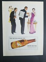 1934 White Rock mineral water stay on the alkaline side vintage ad