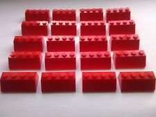 LEGO 20 RED 2x4 ROOF BRICKS