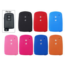 1× 2 Buttons Silicone Key Cover Case Shell Fob For Toyota Camry RAV4 Yaris Auris