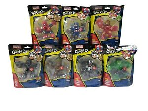 Marvel Heroes Of Goo Jit Zu Set Captain Spidey Groot Iron Man Hulk Black Panther