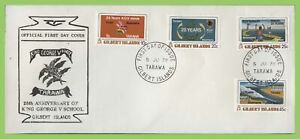 Gilbert Island 1978 25th Anniversary of KGV School set on First Day Cover