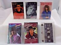 Vintage Country Cassette Tape Lot x 6 REBA MCENTIRE GEORGE STRAIT GARTH BROOKS +