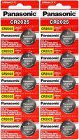 10 x Fresh PANASONIC CR 2025 CR2025 ECR2025 LITHIUM COIN CELL Battery Exp 2028