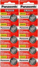 10 CR2025 Panasonic Lithium 3v Batteries