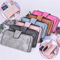Women Multi-function Soft Leather Long Wallet Credit Card Clutch Purse Bag SH