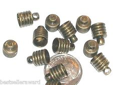 1 Bronze plated color cap for bottles Vials charms we sell separate New