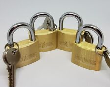 Padlock Set of 4 with 2 Keys each, one key fits all
