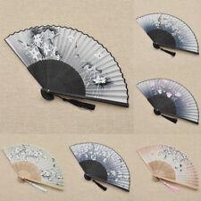 Retro Fächer Faltfächer Handfächer Troddeln Anhänger Blume Deko Chinesisch Stil