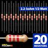 20 X RadioShack 2.2K-Ohm 1/2-Watt 5% Carbon Film Resistor #2711121 BULK PACK NEW