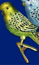 YELLOW MINI CLIP-ON PARAKEET BIRD OLD WORLD CHRISTMAS GLASS ORNAMENT NWT 18049