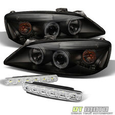 Black Smoked For 05-10 Pontiac G6 Halo Projector Led Headlights+Smd Bumper Fog