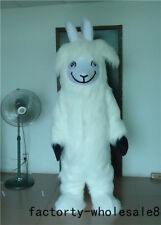 Advertising Milk Carnival Sheep Mascot Costume Suit Dressing Outfit Adult Parade