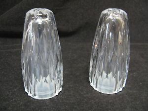 Princess House Highlights Crystal Salt & Pepper Shakers #832