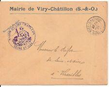 LETTRE,COVER,LSC;Seine et Oise;Mairie VIRY CHATILLON;22/9/05,Franchise,Versaill