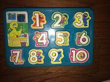 Vintage 1995 Tyco Playtime Sesame Street Number Puzzle