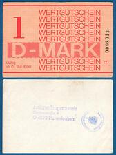 DDR Gefängnisgeld JVA Hohenleuben 1 Mark 1990 Serie B