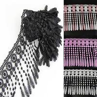 3 Yards Bilateral Handicrafts Embroidered Net Lace Trim Ribbon U Pick Color