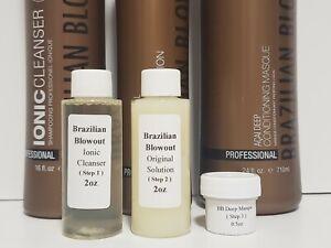 BRAZILIAN BLOWOUT Original Solution Step 1-2-3 2oz Kit !!