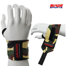 Gym Power Training Weight Lifting Wrist Wraps Hand Bar Support Grip Camo Straps