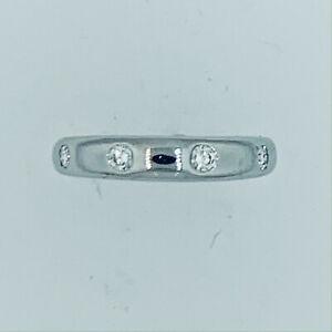 Van Cleef Arpels Platinum Diamond  Band  Ring