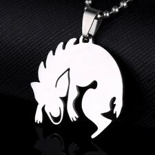 Stainless Steel Chupacabra Monster Silhouette Charm Pendant Chain Necklace