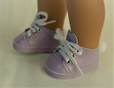 """Sneakers Rabbit Lavender for 15"""" Bitty Baby 18"""" American Girl Doll Accessories"""