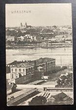 1908 Warsaw Poland Russia Empire Picture Postcard Cover City View