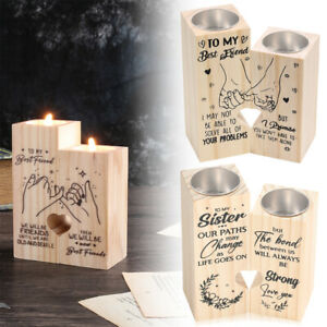 for Friend Wooden Candle Holder 14 Type Tea Light Candles Holders Christmas Gift
