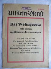 Ullstein-Dienst Das Wehrgesetz mit seinen Ausführungs-Bestimmungen 1935