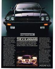1988 Jaguar XJ-S V12 Black Vtg Print Ad