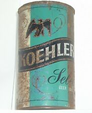 1950s KOEHLER SELECT BLACK EAGLE FLAT TOP TIN BEER CAN LAKE ERIE,PENNSYLVANIA PA