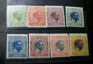 US-Danish West Indies Stamp Scott# 51-58 Christian X 1915 Used L445
