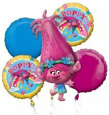 Trolls Poppy Birthday Party Supplies Mylar Foil (5ct) Bouquet Balloon