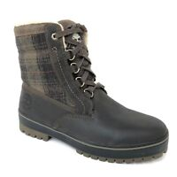 """Timberland Men's 6"""" Spruce Mountain Brown Leather Waterproof Snow Boots 6869B"""