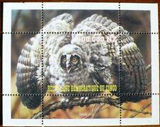 CONGO Oiseau, oiseaux, rapace nocturne, chouette 1 BF émis en 1998. ** MNH