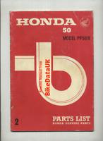 Honda PF50R Amigo (1974-1975) Factory Parts List Catalog Book Manual PF 50 CG56