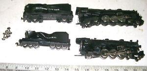2 Vintage HO Rivarossi/AHM 4-6-4 HUDSON Steam Loco & Tenders for Parts or Repair