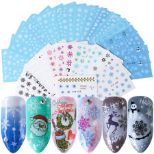 30 Sheets DIY Nail Art Water Decals Stickers Snowflake Watermark Decor For Xmas