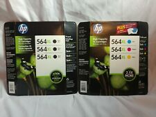 6 Pack HP Genuine 564XL High Capacity Color Ink Cartridges Combo Bl, Cy, Ma & Ye