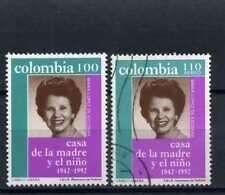 MARIA LOPEZ DE ESCOBAR.-  2>> used- MNH >> COLOMBIA,- 1992