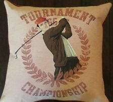 NEW HINES OXFORD ENGLAND GOLF TOURNAMENT CHAMPIONSHIP TAPESTRY DOWN PILLOW