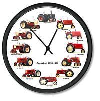 "New INTERNATIONAL Farmall 1923-196 Wheel Dial Clock 12 Tractors 10/"" ORCHARD"