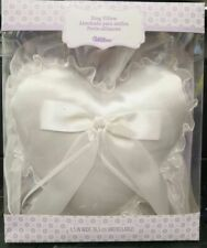 "Wilton 6.5"" Ivory Wedding Ring Pillow, Brand New- Sealed"