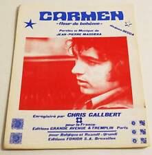 Partition vintage sheet music CHRIS GALLBERT : Carmen * 70's JP MASSIERA